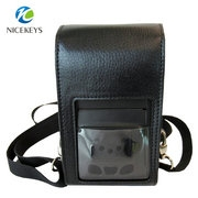 Protable leather waist and shoulder bag printer carry case
