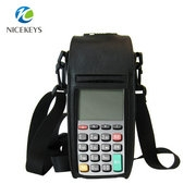 Slim case for POS terminal with handle bend and shoulder strap