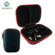 Hard waterproof leather EVA earphone carrying case